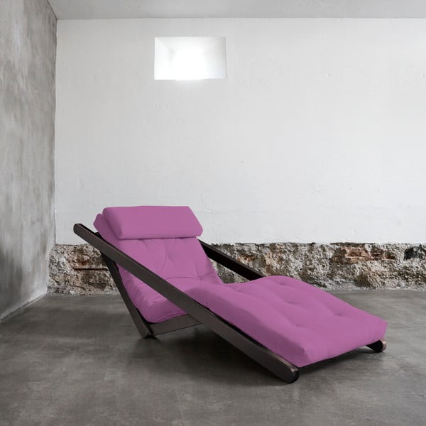 Variabilní lenoška Karup Figo Wenge/Taffy Pink