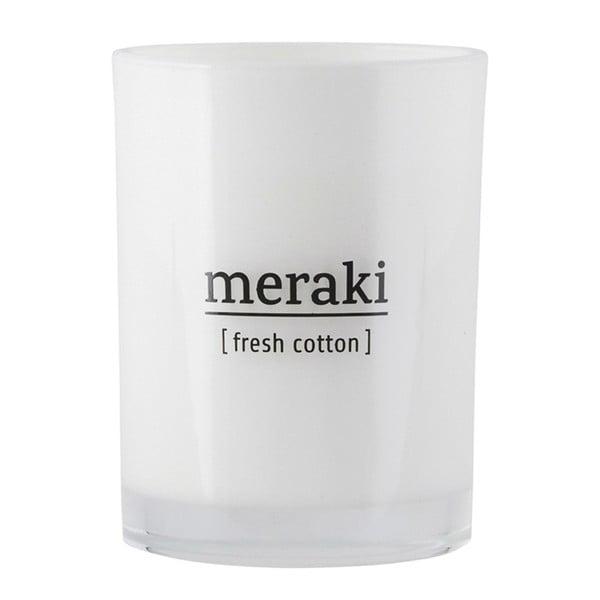 Lumânare parfumată organică Meraki, 35 ore, miros de rufe proaspăt spălate