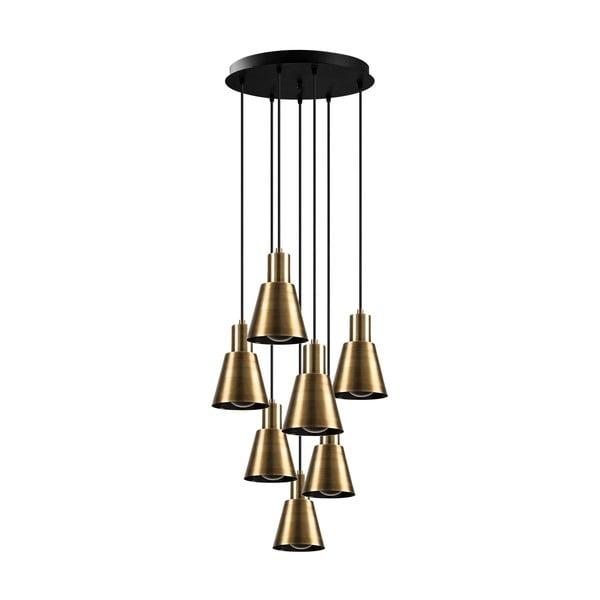 Lustră de 7 becuri Opviq lights Kem, auriu