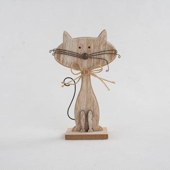 Decorațiune din lemn în formă de pisică Dakls Cats, înălțime 18cm de la Dakls