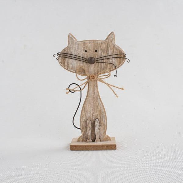 Decorațiune din lemn în formă de pisică Dakls Cats, înălțime 18cm