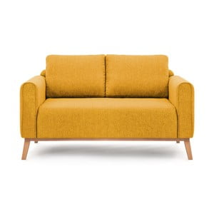 Canapea cu 2 locuri Vivonita Milton, galben muștar