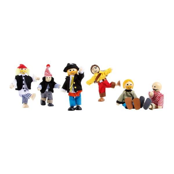 Set figurine din lemn și material textil Legler Pirates