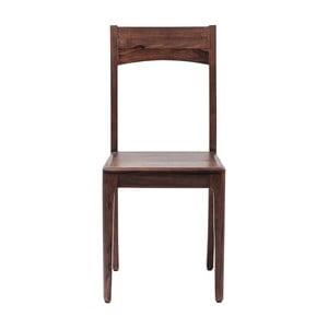 Hnědá dřevěná židle Kare Design Brooklyn