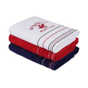 Sada 3 barevných ručníků z bavlny, 140 x 70 cm