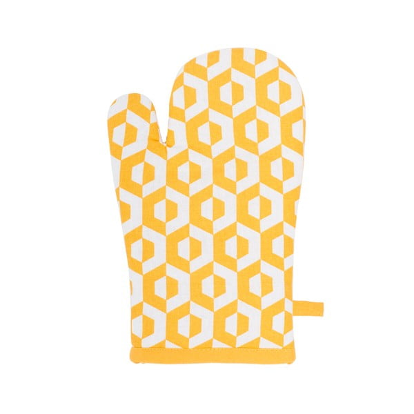 Žlutá bavlněná chňapka Tiseco Home Studio Hexagon