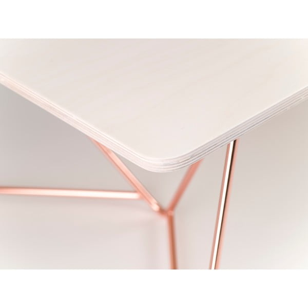 Deska konferenčního stolu Flat Coffee - bělené dřevo, 110x70 cm