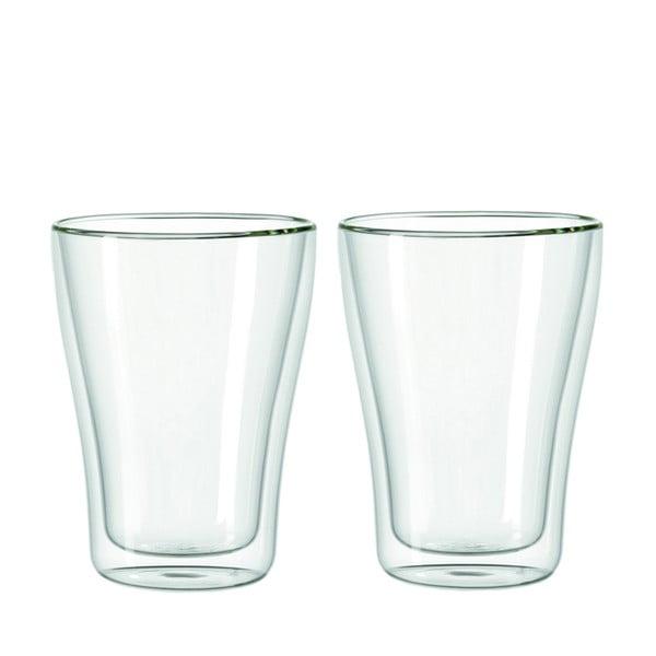 Sada 2 dvojstěnných sklenic LEONARDO Duo, 345 ml