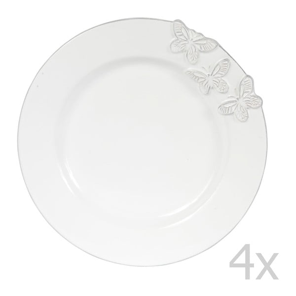 Set 4 dezertních talířů Candice, 23 cm