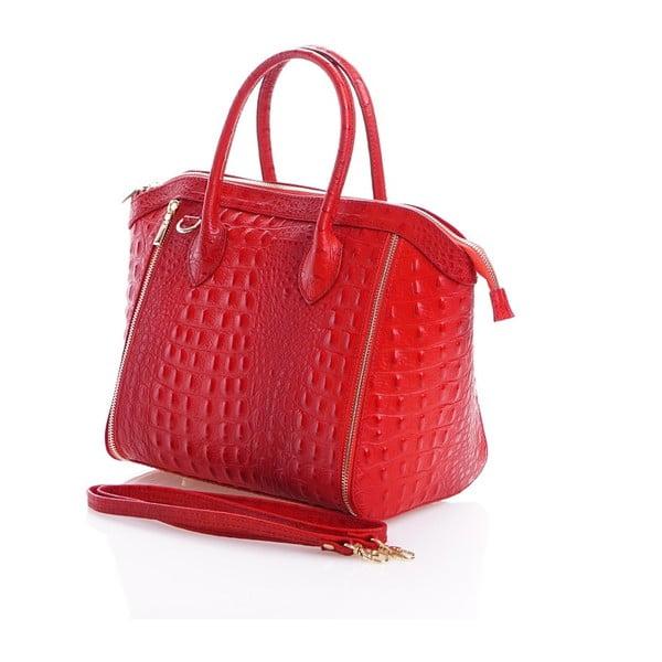 Kožená kabelka Marina, červená