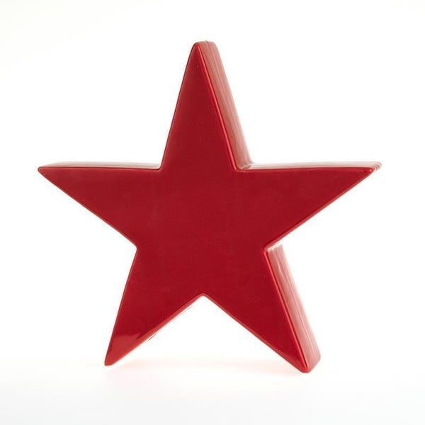 Svícen Star Deco Red, 24x23 cm
