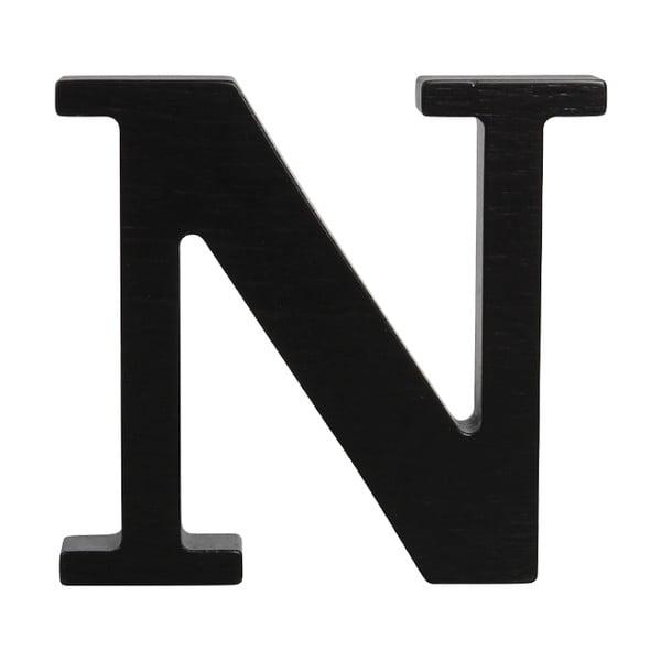 Černé dřevěné písmeno Typoland N