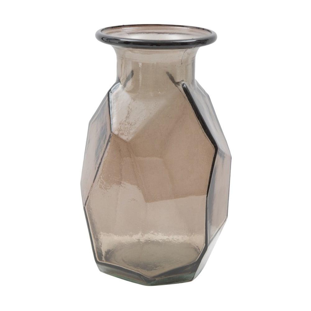 Hnědá váza z recyklovaného skla Mauro Ferretti Ambra, ⌀ 9 cm Mauro Ferretti