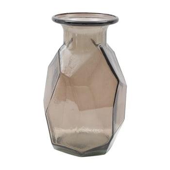 Vază din sticlă reciclată Mauro Ferretti Stone, ⌀ 9 cm, maro de la Mauro Ferretti