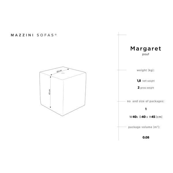 Světle hnědý puf Mazzini Sofas Margaret, 40 x 45 cm
