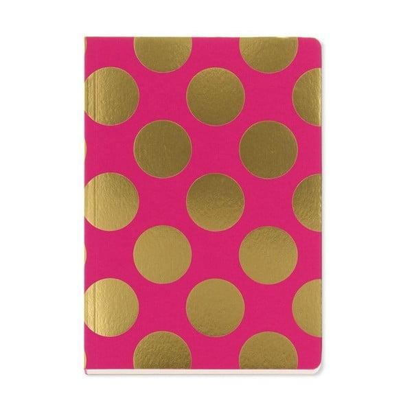 Notes A5 GO Stationery Gold Polka Magenta