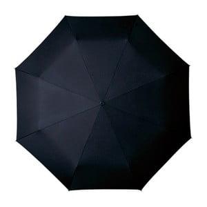 Černý skládací deštník Ambiance Gentleman, ⌀100cm