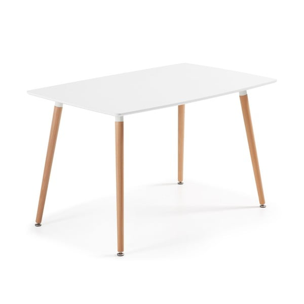 Jídelní stůl z bukového dřeva La Forma Daw, 80 x140 cm