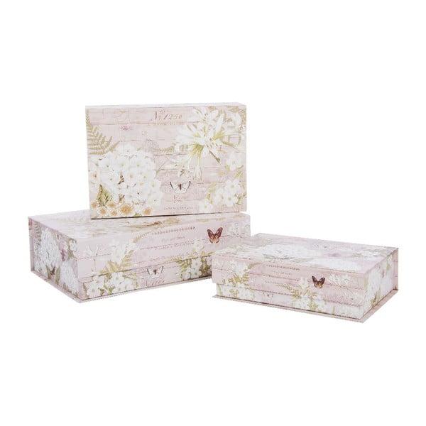 Sada 3 úložných krabic Scato