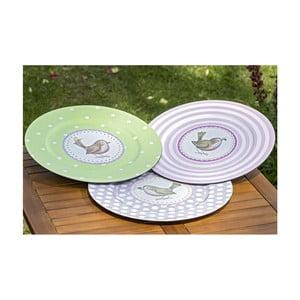 Sada 3 plastových talířů Boltze Pieps, ⌀ 33 cm