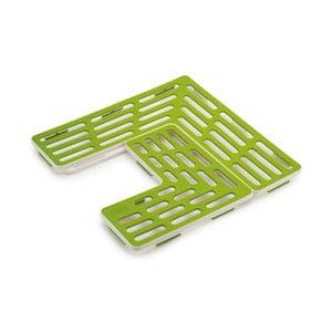 Set 2 covorașe antiaderente pentru chiuvetă Joseph Joseph Sink Saver, verde