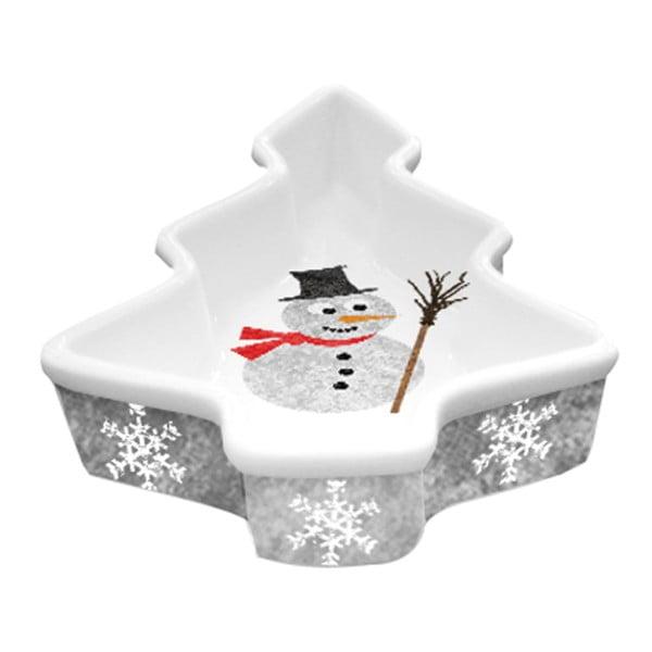 Dekorativní mísa z kostního porcelánu s vánočním motivem PPD Im a Snowman