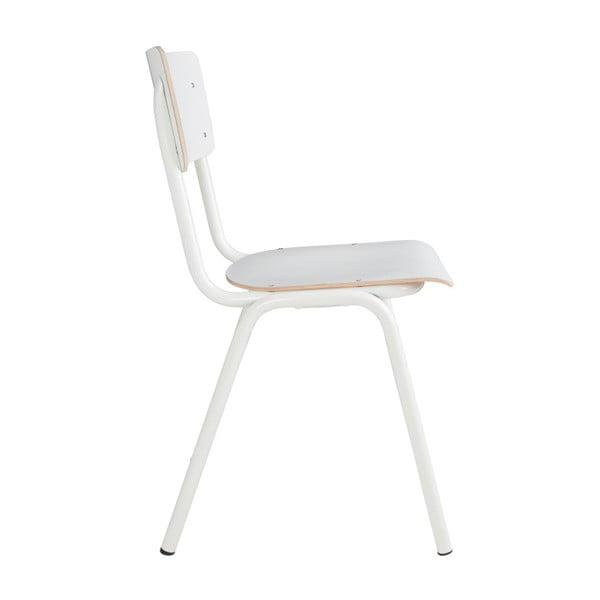 Sada 4 bílých židlí Zuiver Back to School