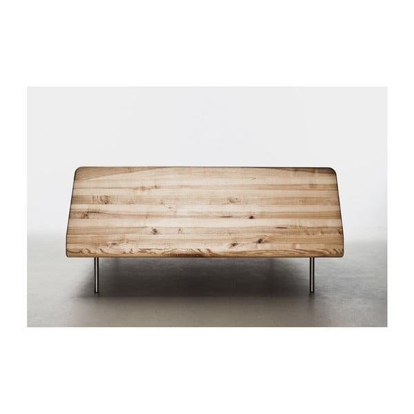 Postel z olejovaného jasanového dřeva Mazzivo Letto, 200x210cm