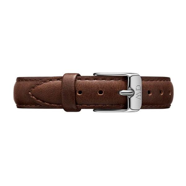 Dámské hodinky s koženým řemínkem a bílým ciferníkem s detaily stříbrné barvy Daniel Wellington Petite Bristol, ⌀28mm