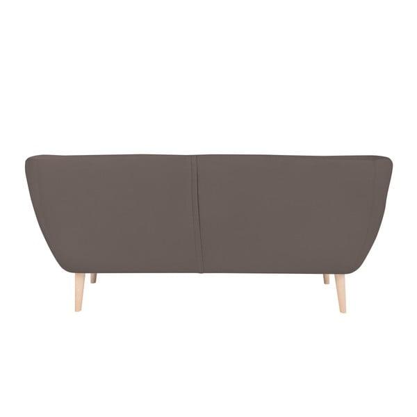 Ocelově šedá třímístná pohovka BSL Concept Eleven