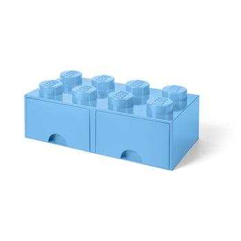 Cutie de depozitare cu 2 sertare LEGO®, albastru deschis imagine