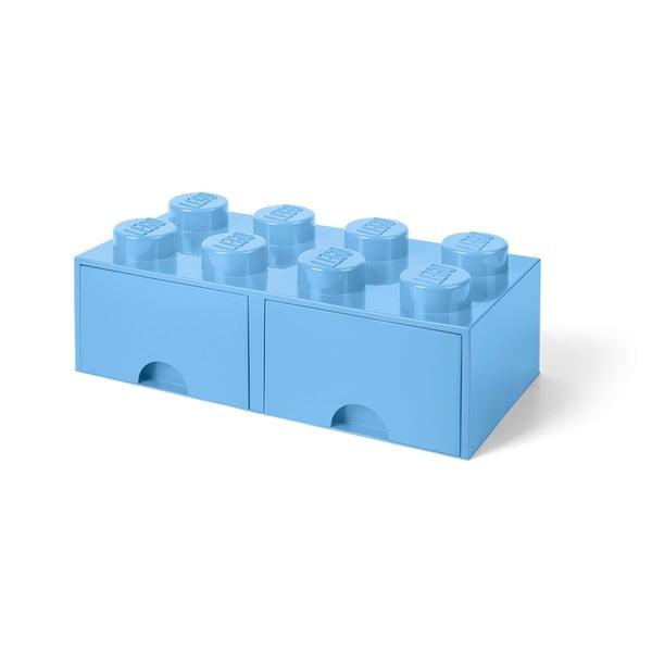 2 fiókos világoskék tárolódoboz - LEGO®