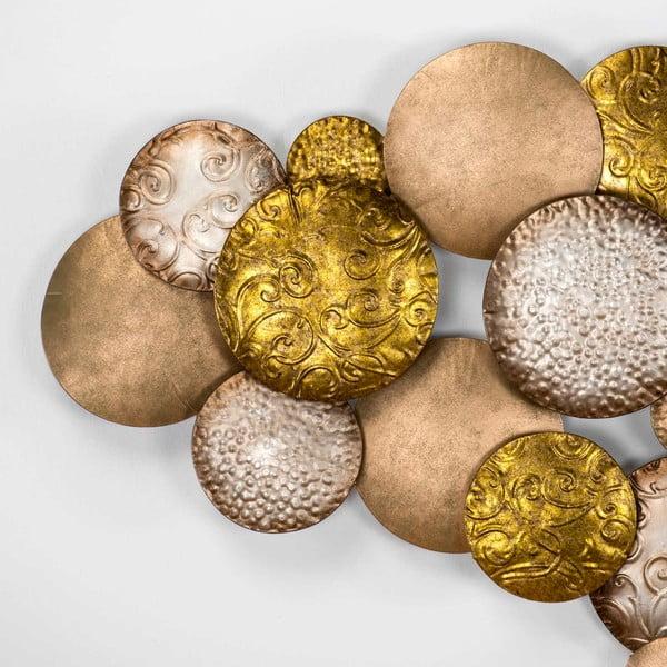 Nástěnná dekorace ve zlaté barvě Thai Natura Maharat, 127x76cm