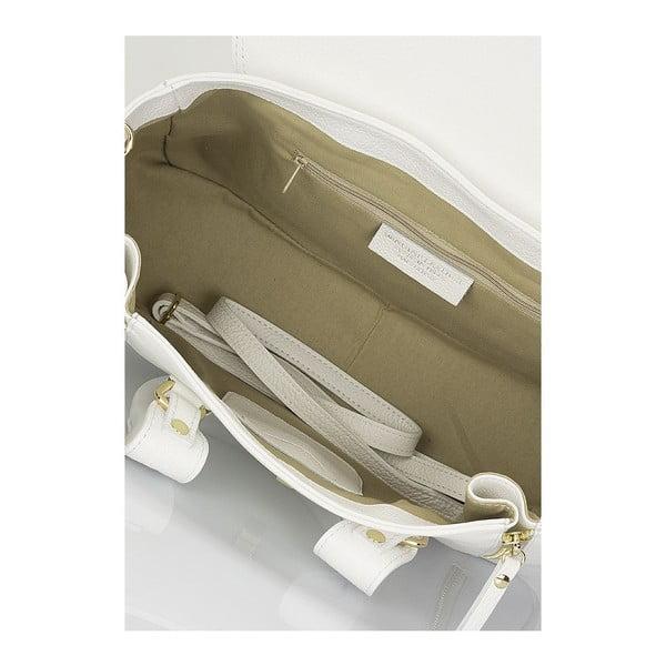 Kožená kabelka Elsie, bílá