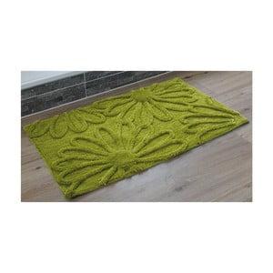 Koupelnová předložka Blume Green, 60x100 cm