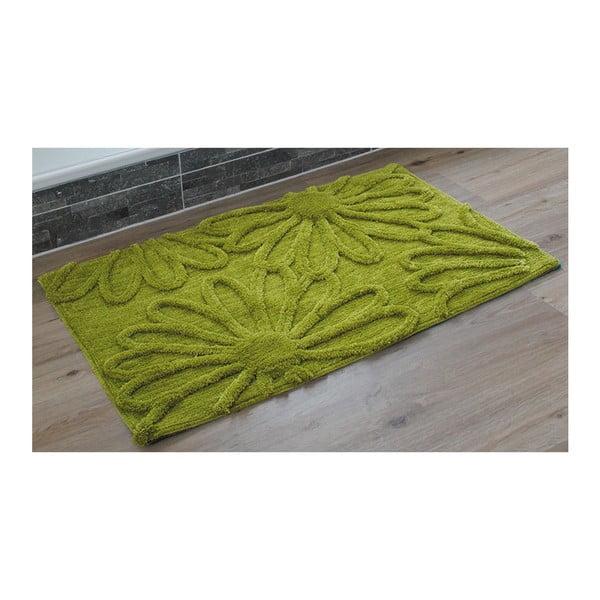 Koupelnová předložka Blume Green, 50x70 cm