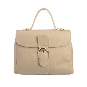 Béžová kožená kabelka Tina Panicucci Shool
