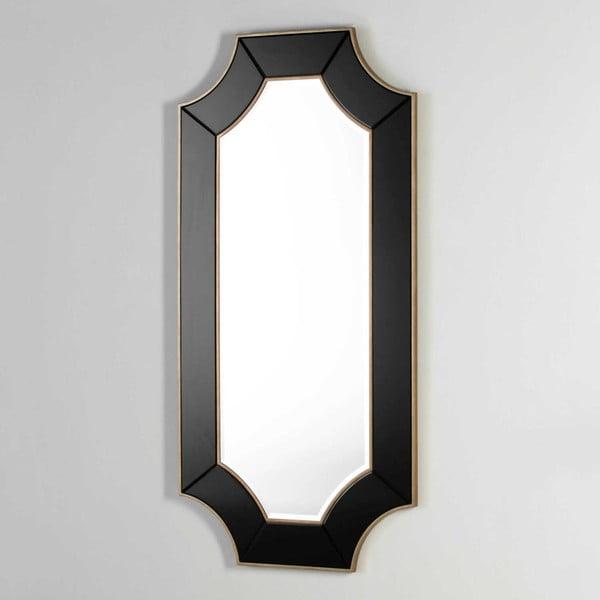 Nástěnné zrcadlo s černým rámem Thai Natura, délka170cm