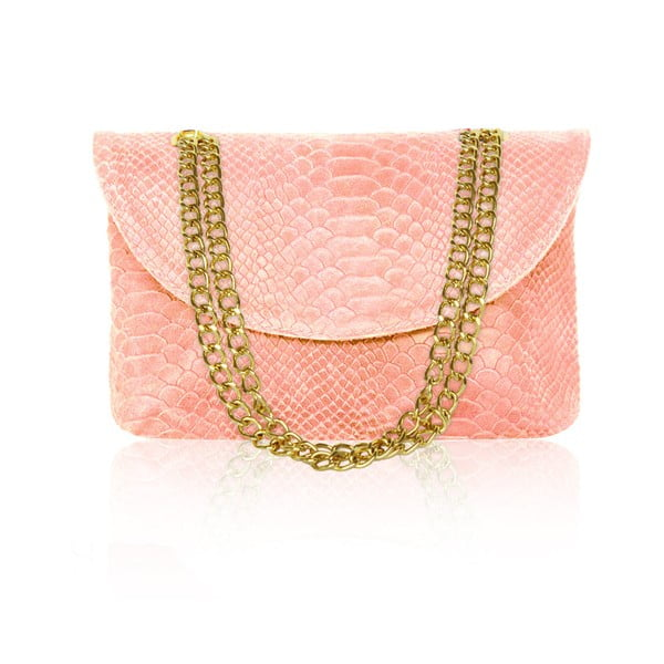 Kožená kabelka Gaia, světle růžová