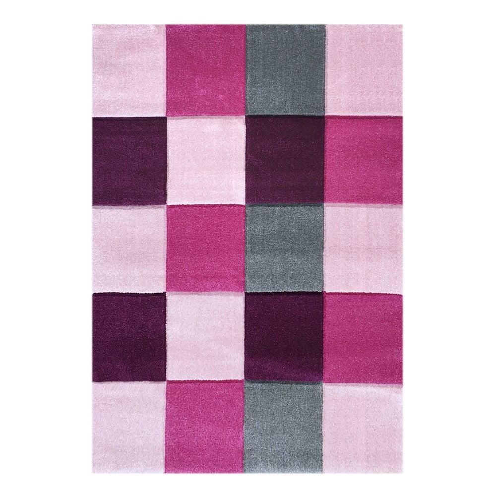 Růžový dětský koberec Happy Rugs Patchwork, 160 x 230 cm