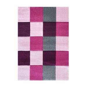 Růžový dětský koberec Happy Rugs Patchwork, 120x180cm