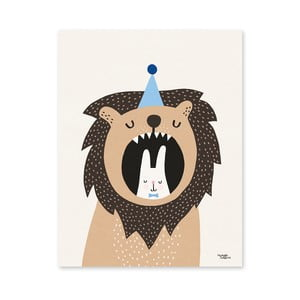 Poster Michelle Carlslund Lion & Bunny, 50 x 70 cm
