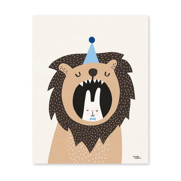 Plakát Michelle Carlslund Lion & Bunny, 50x70cm