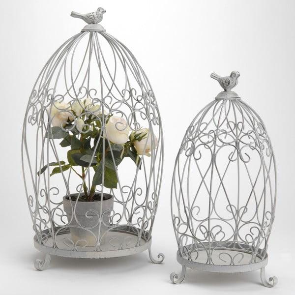 Sada 2 dekorativních klecí Cage Shelf