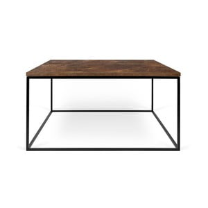 Hnědý konferenční stolek s černými nohami TemaHome Gleam, 75 cm