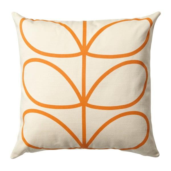 Oranžovobéžový polštář s oboustranným potiskem Orla Kiely Orangina, 45 x 45 cm