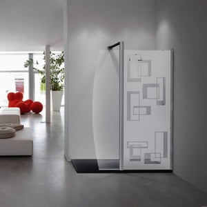 Samolepka Fanastick Douche Rectangles Design, 145 x 55 cm