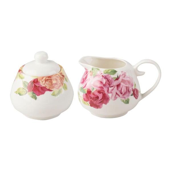 Set džbánku na mléko a cukřenky s květinovým motivem Creative Tops, 2 ks
