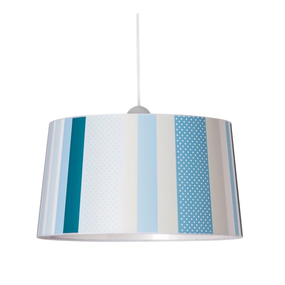 Modré závěsné svítidlo SULION Lines