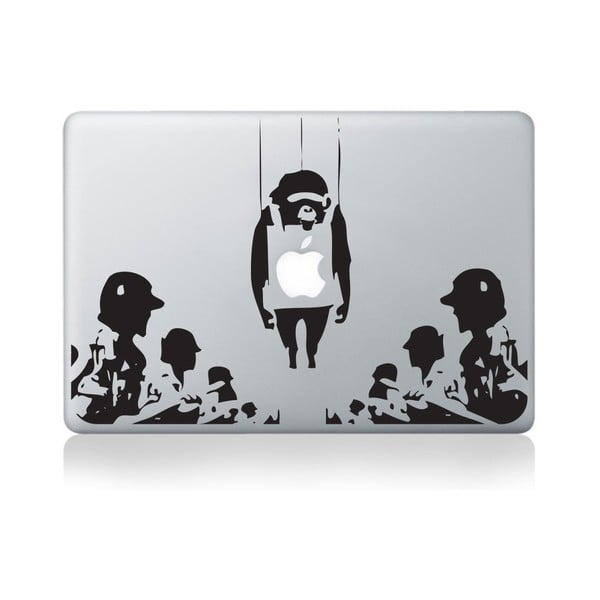 "Samolepka na notebook 15"" Monkey Surrounded by Banksy"
